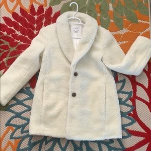 Cream J. Crew Sherpa jacket